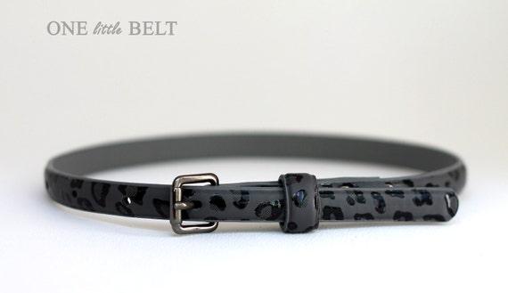 Baby Girl's Belt- Gray Leopard Print 0-3 months