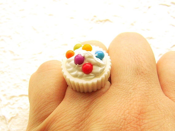 Food Jewelry Rings Food Ring Kawaii Vanilla Cup