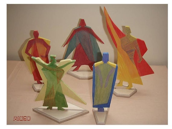 Eurythmy Figures (Set of 5 Vowels AEIOU)