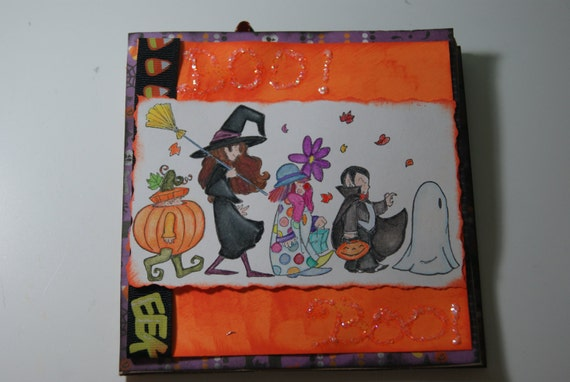 OOAK Handmade Halloween Paper Bag Greeting Card