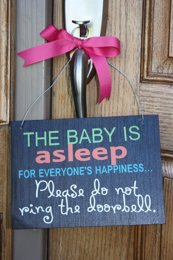 Baby Asleep - Door Hanger Notification