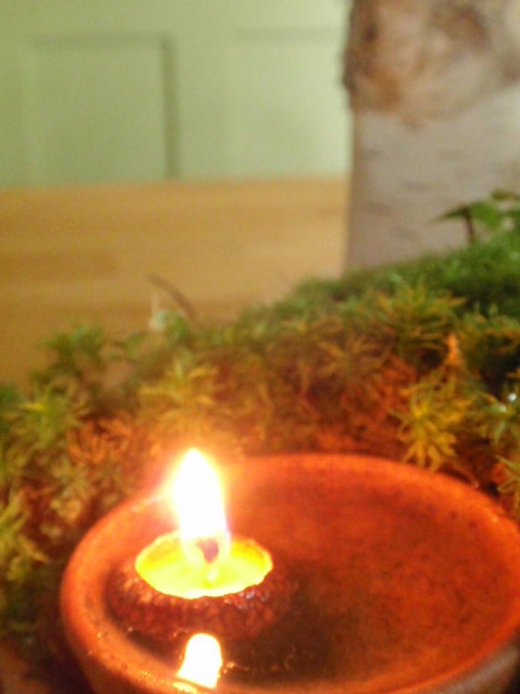 acorn cap candles-- woodland /the littlest lights/ floating candles