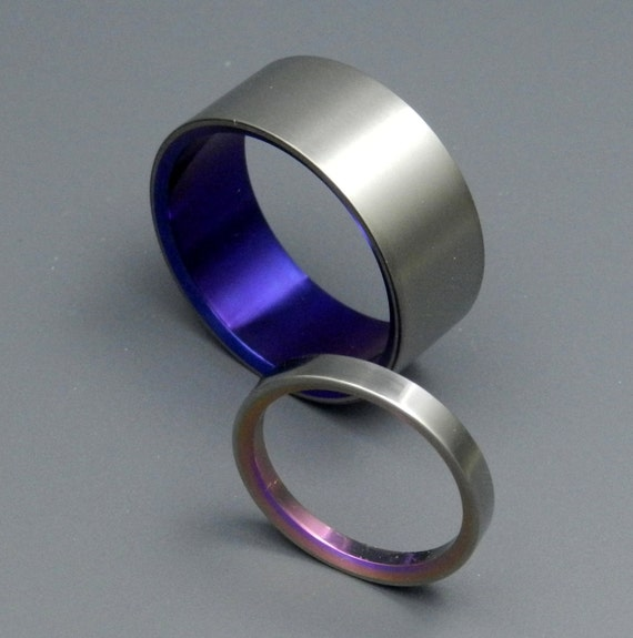 Bonnie & Clyde - Titanium Wedding Bands