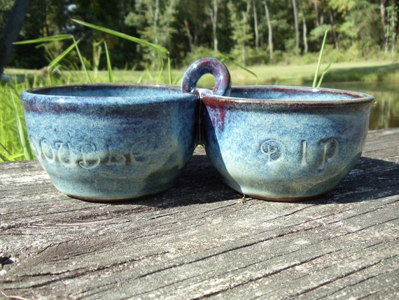 Double Dip Pottery Bowl Set (item P120)