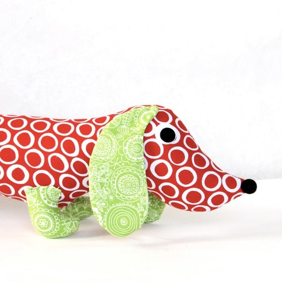 NEW Wiener Dog Plush Dachshund Toy FRAN