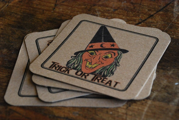Halloween Coasters-Vintage/Retro -Set of 4