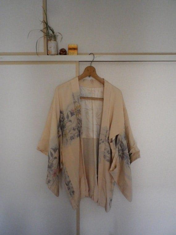 ivory flowers kimono
