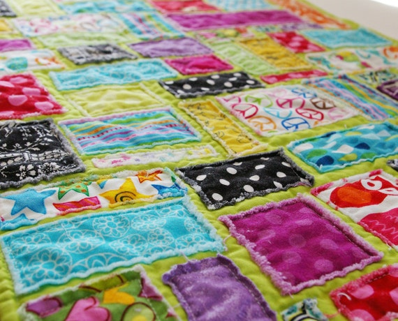 Rainbows Over Paris :: Scrappy Doll Quilt