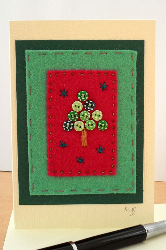 crazy patchwork christmas cards