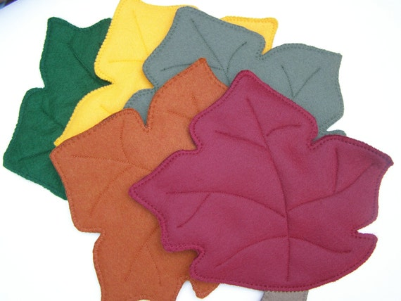 Autumn Oak Leaf, Felt Hot Pad