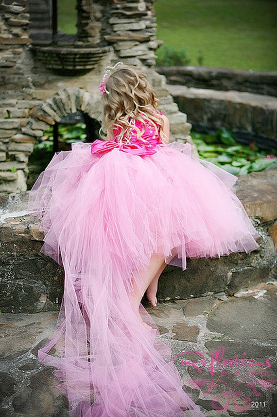 Beautiful Whimsical Tutu gown with detachable train- Perfect for Weddings, Photo Shoots, etc.