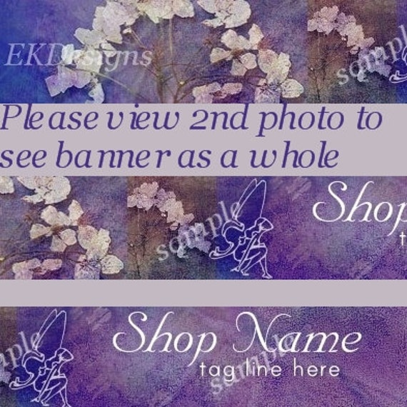 Purple Fairy Premade Banner