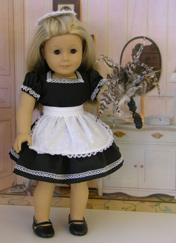 French Maid costume for American Girl or 18 inch doll with shoes