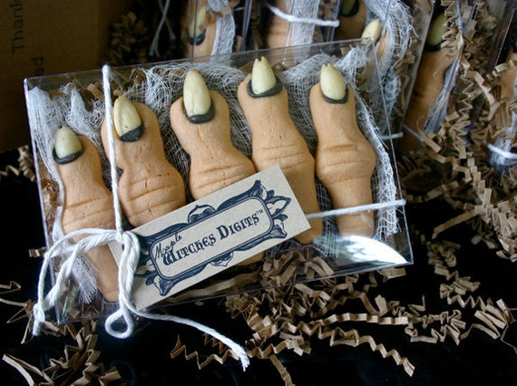 "Gift Boxed Creepy Cookies, Maple Flavor ""Witches Digits"""