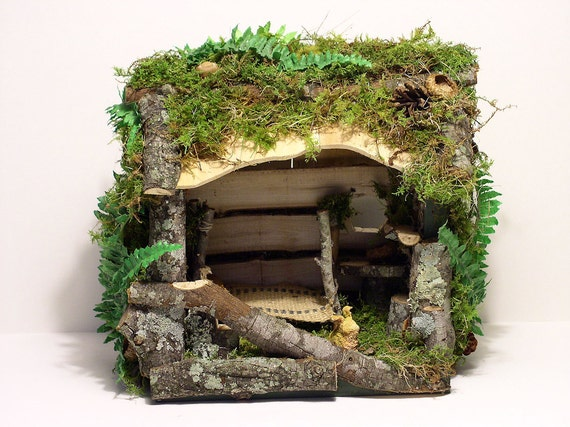 Fairy House Woodland Ferns Custom Fairy Twig Furniture