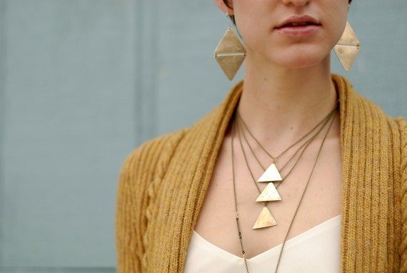 Cascading triangle necklace