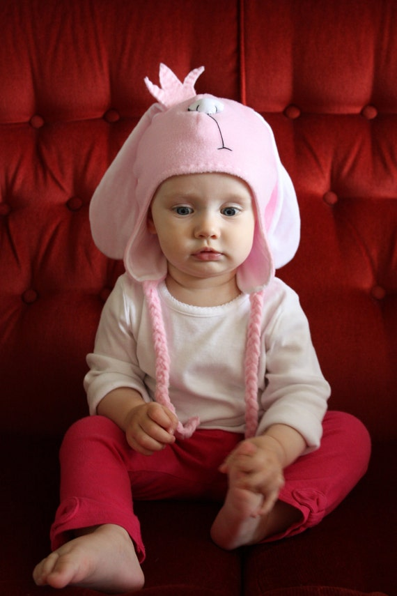 Girls PRINCESS BUNNY Hat  3-6 Months