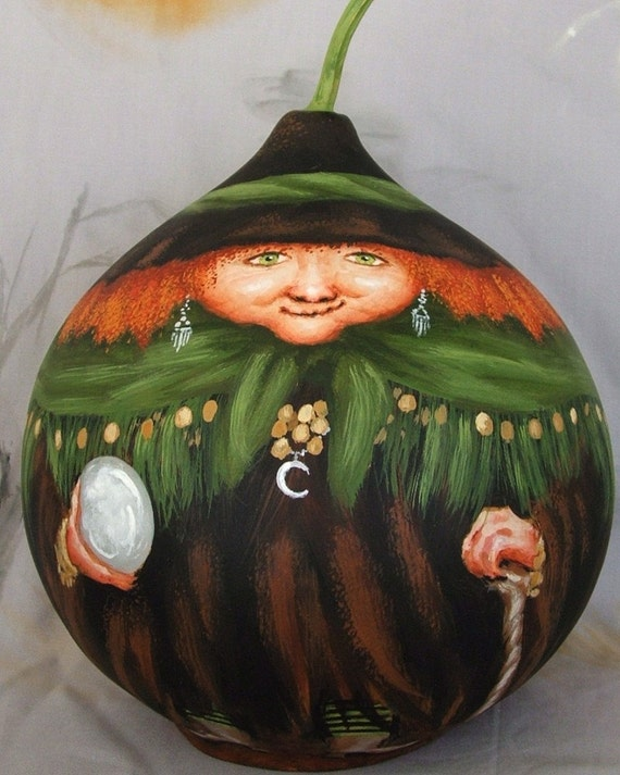 Fortunes Told by Madam Clarisse, gypsy witch, 8 inches tall