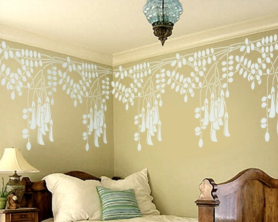 STENCIL for Walls - Black Locust Flowers BORDER - Reusable Wall Stencil