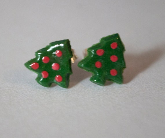 Christmas Tree Post Earrings