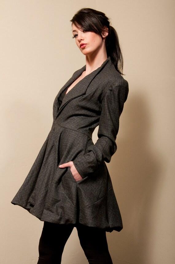 زمستان لباس پشم ژاکت - رنگ خاکستری و سیاه و سفید