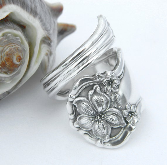 Silver Spoon Ring  - Orange Blossom 1910
