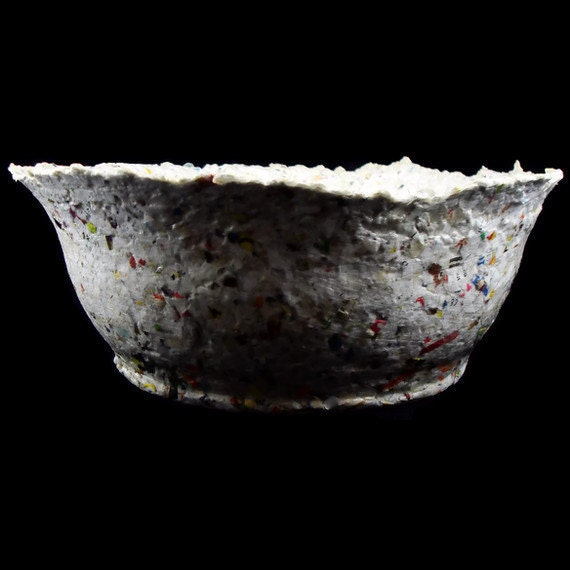 Completely Junk Mail - Recycled Handmade Paper Bowl