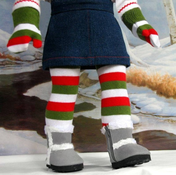 Merry Christmas Stockings and M2M Mittens American Girl doll clothes