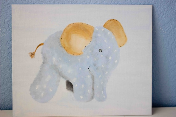Stuffed Elephant Painting