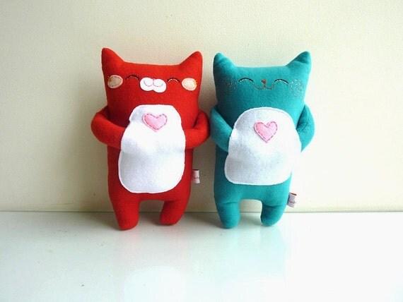Cat Plush - Kitty Chilli no2- Etsy Project Embrace