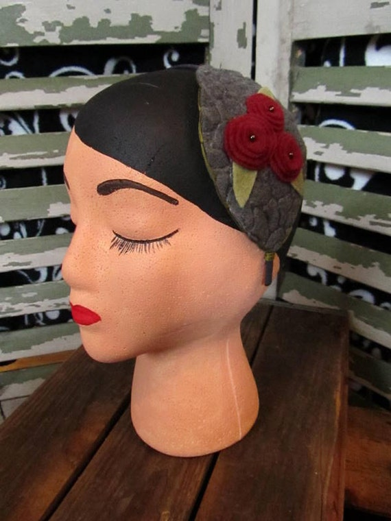 Poppy flower felt headband