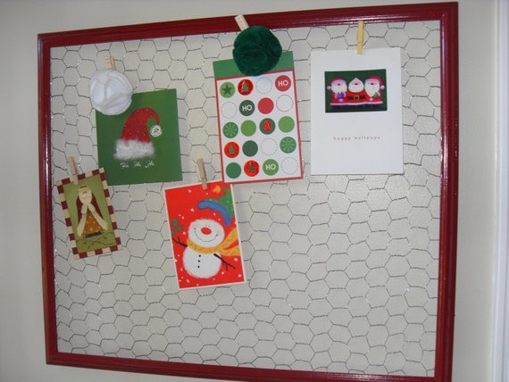 Chicken Wire Memo Board