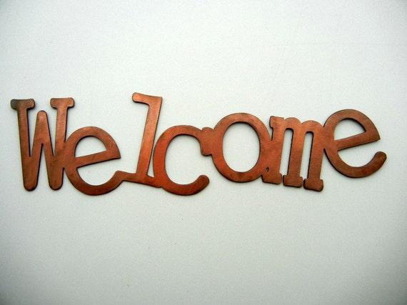 Welcome, Metal Word Art
