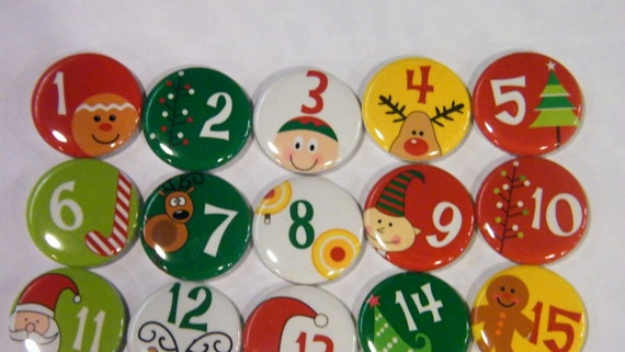 Christmas Countdown Buttons