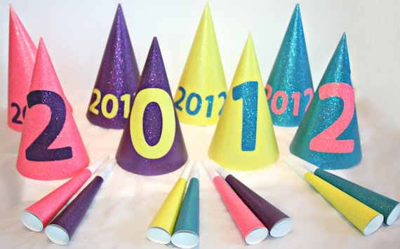new year's eve decor, new years eve treats, new year's eve hats, new year's eve party, new year's eve favors