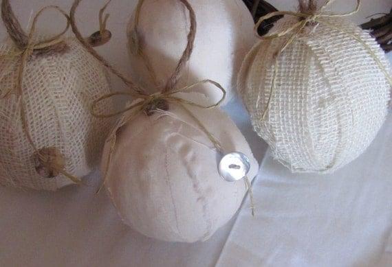 Bolas de tecido de estopa e Muslin Rag - Conjunto de 4
