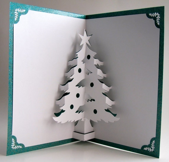 Christmas Tree Pop Up Home Décor 3D Handmade Cut by Hand Origamic ...