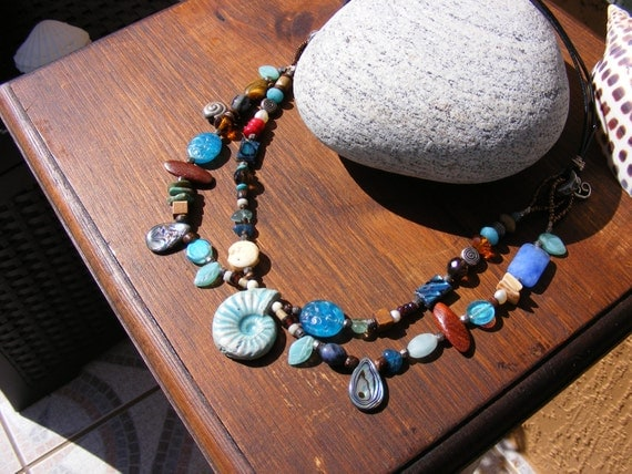 She Sells Seashells by the Seashore Treasure Necklace