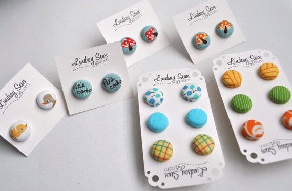 Assorted Button Earrings