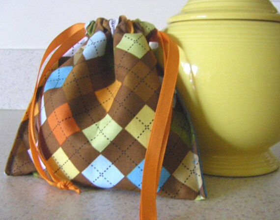 Eco Friendly Snack Bag/ trinket bag