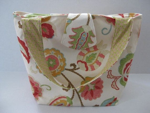 Bag, tote, floral print, carry on under 100