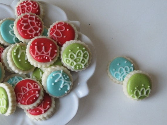 Oh so small ORNAMENTS sugar cookies -6 dozen