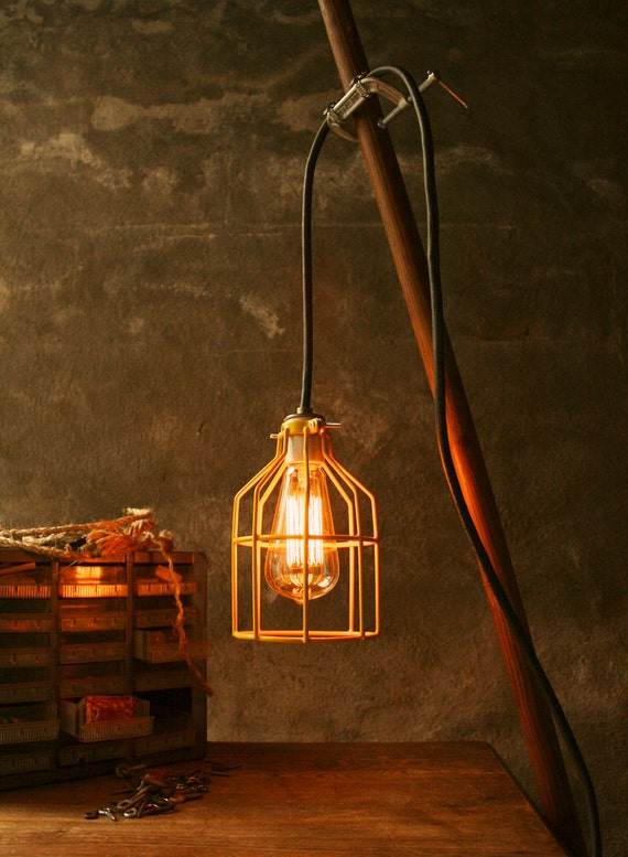 Lighting Lamp Hanging Light Lamp Cage Light Industrial Light Cool Gifts for Men Hanging Clamp Lamp