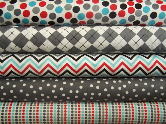 NEW Remix colors by Ann Kelle and Robert Kaufman, Remix in Celebration Fat quarter bundle, 5 total