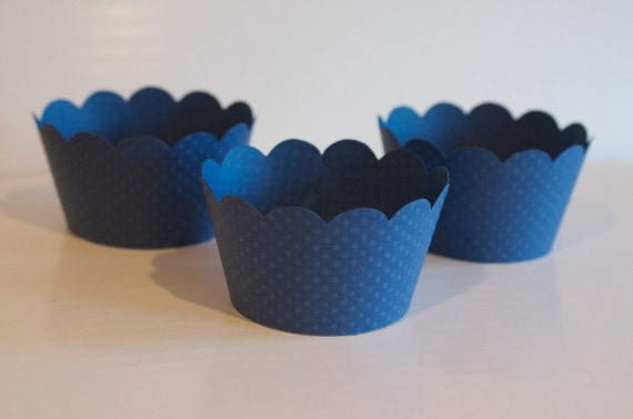Ocean Blue Cupcake Wrappers