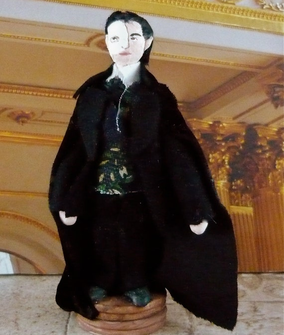 Phantom of the Opera Doll  Erik  Miniature With Mask and Cape