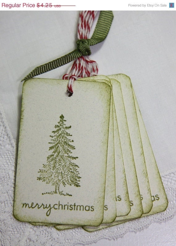 Cyber Monday Sale Rustic Christmas Tree Gift Tags