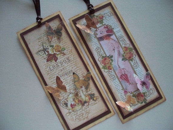 Vintage themed bookmarks