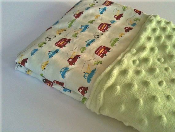 Beep Beep - Large Cotton/Minky Blanket - 30x36 in