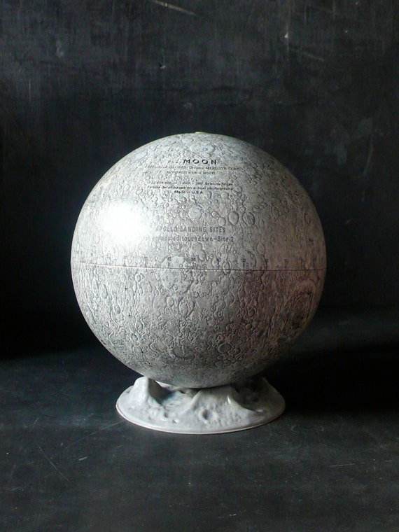 "Vintage 1969 6"" Moon Globe by Replogle"